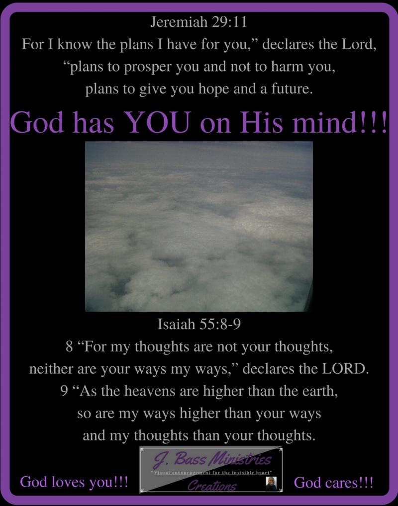 JBM Creation - 11x14 - God Has You on His Mind