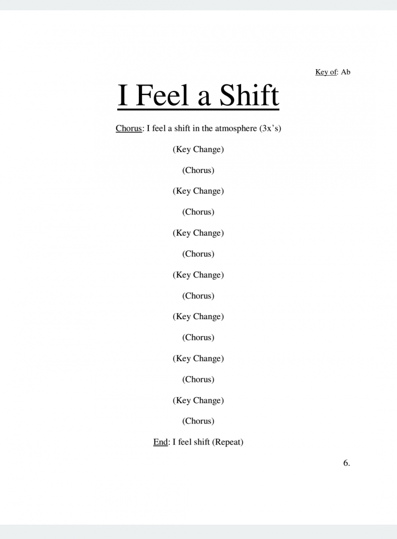 I Feel a Shift Lyrics