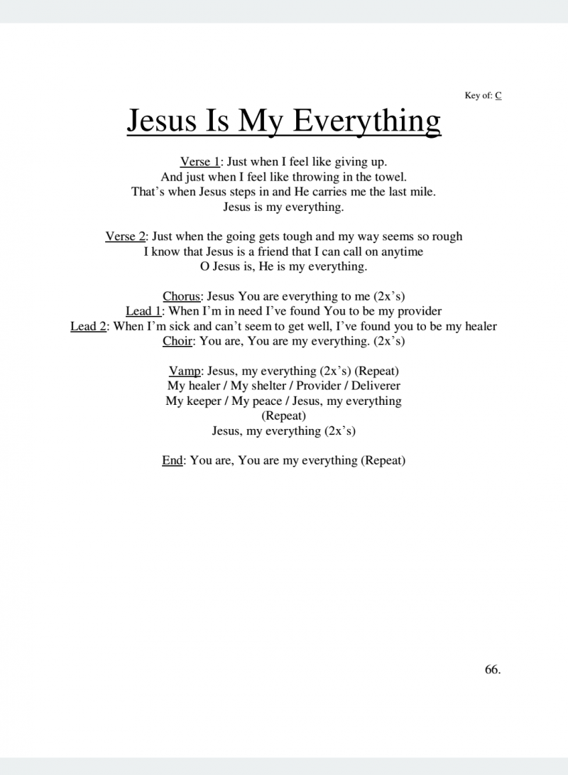 Jesus Is My Everything Lyrics