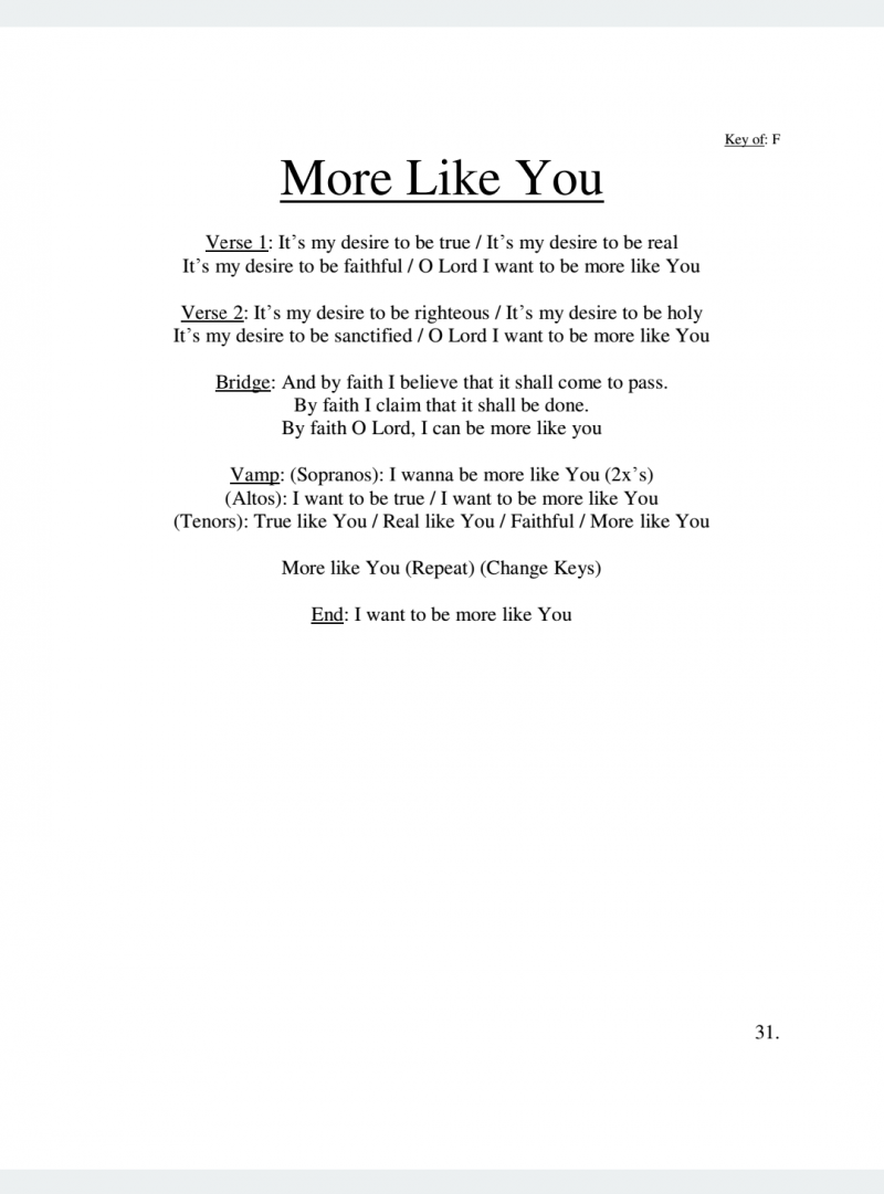 More Like You Lyrics