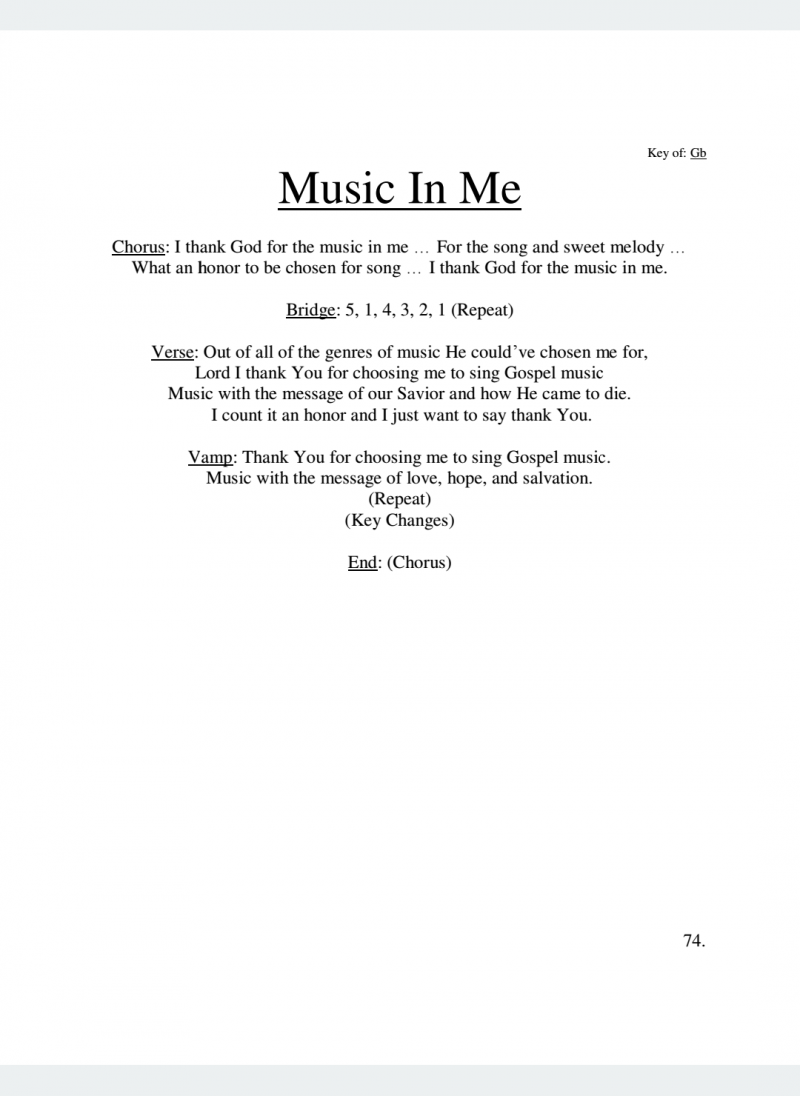 Music In Me Lyrics