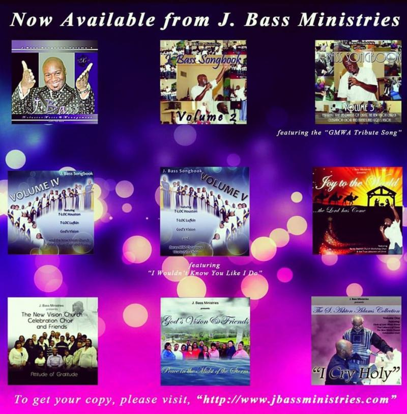 The cd's currently available through J. Bass Ministries as of 2016
