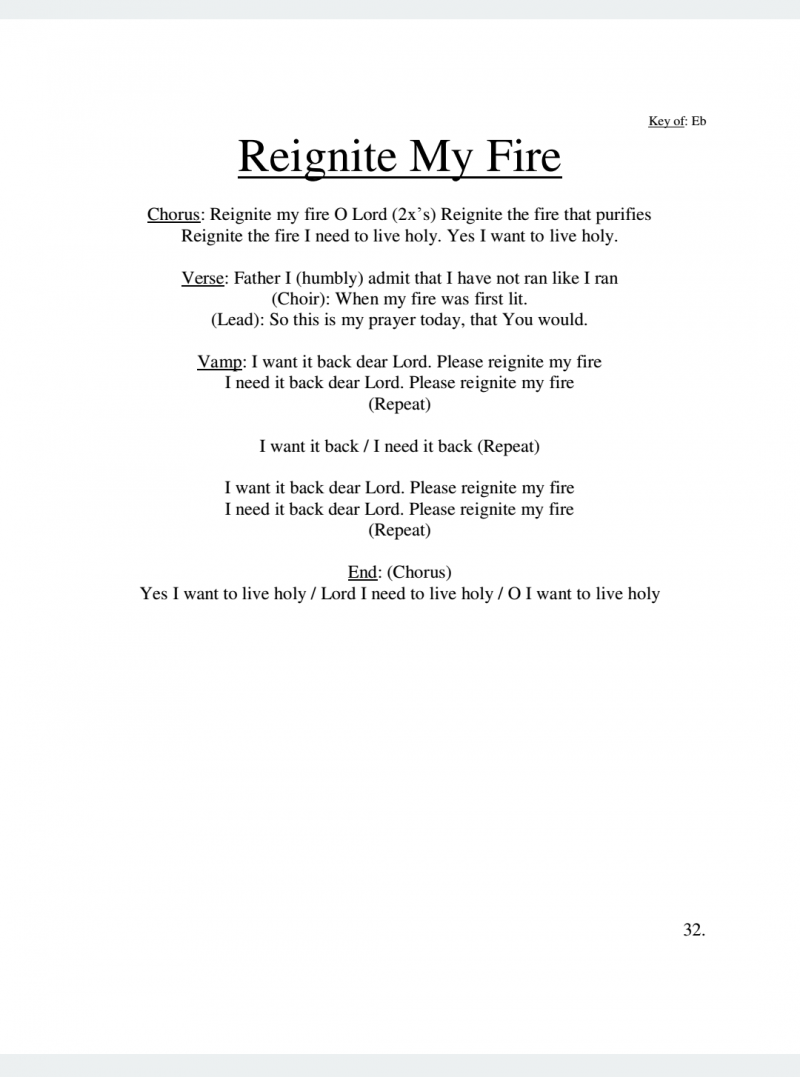 Reignite My Fire Lyrics