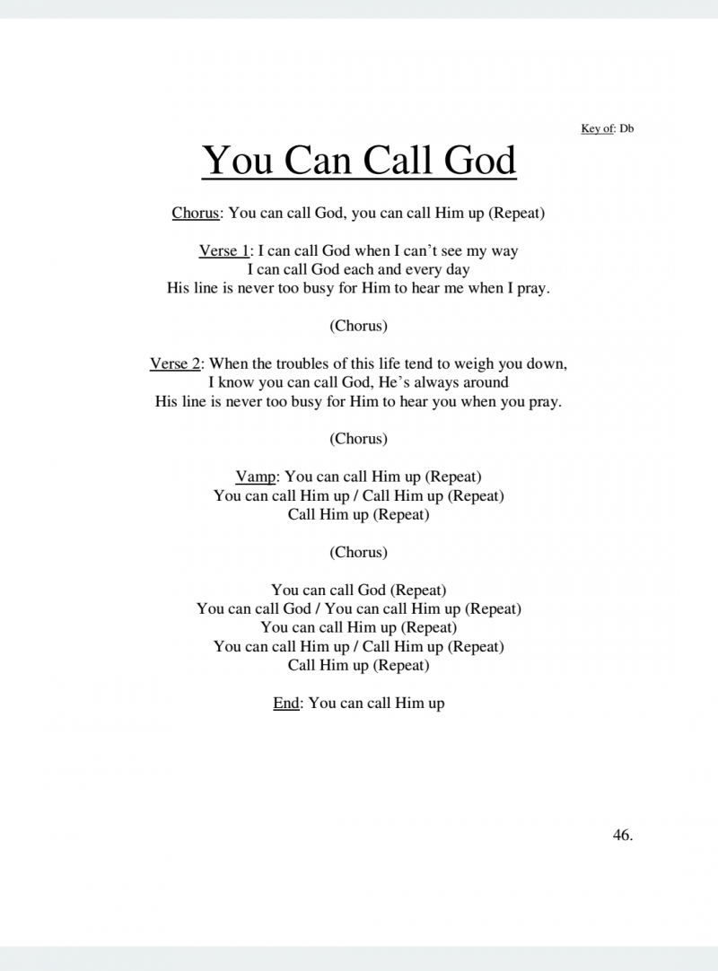 You Can Call God Lyrics